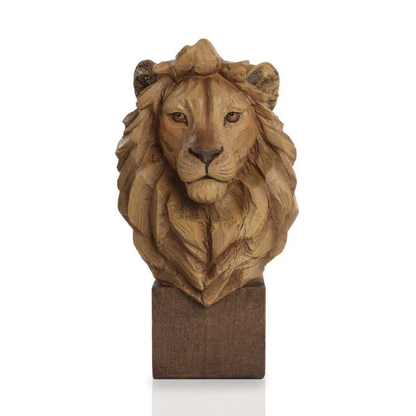 Resin Lion Bust Figurine - 38 cms