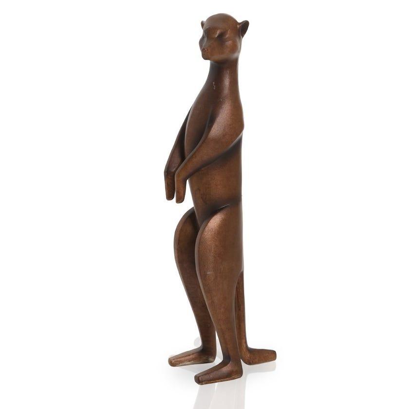 Meerkat Resin Figurine, Copper - Medium