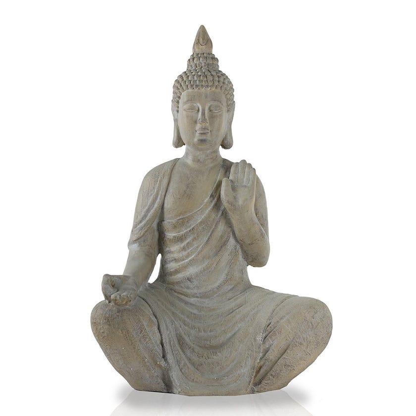 Sitting Buddha Figurine, Wooden