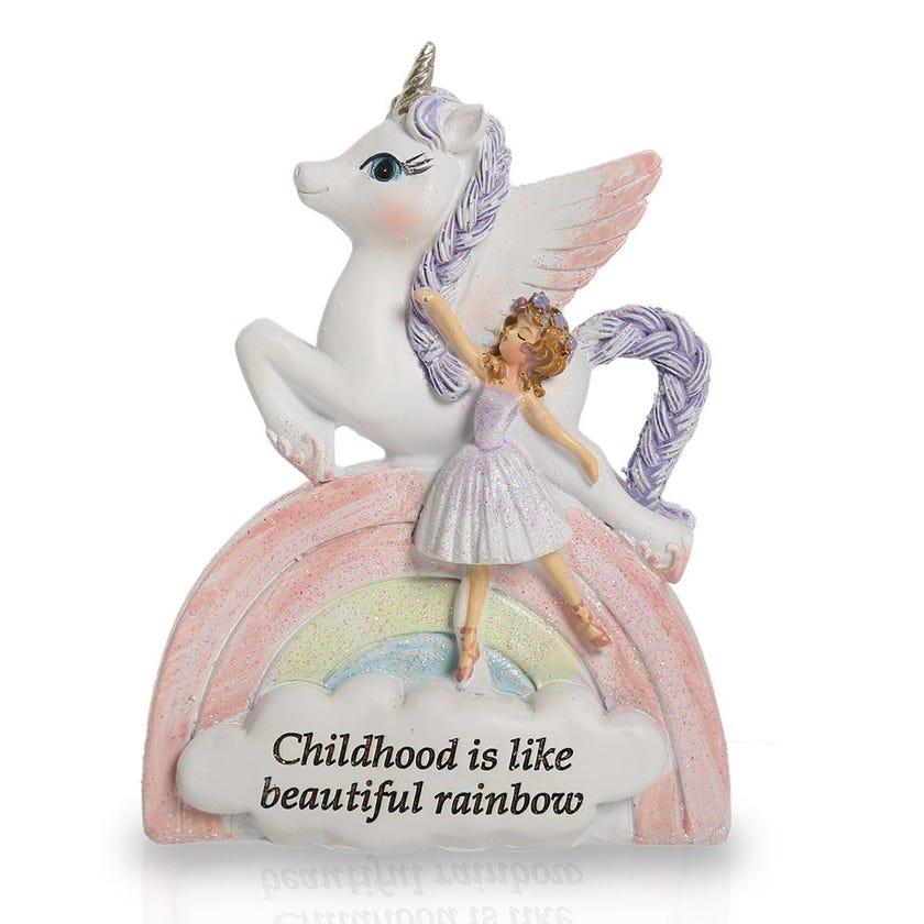 Lady Unicorn Décor Piece, Multicolour