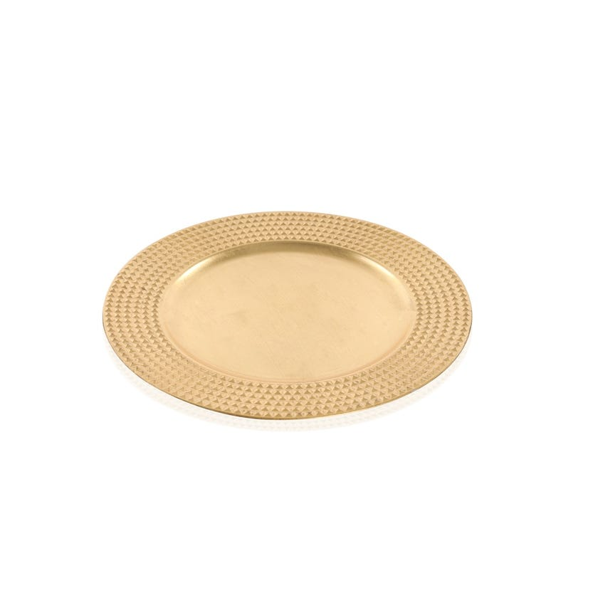 Gold Charger Plate With Square Border