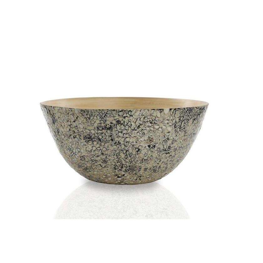 Athens Champagne Bamboo Bowl, Medium