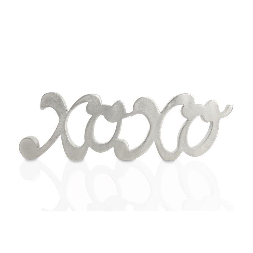Polyresin Décor Piece - Xoxo (Silver, 25.5 x 2.5 x 8 cms)