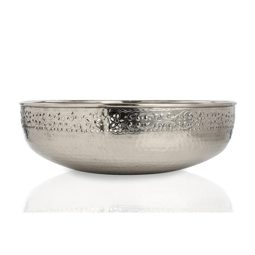 Raayah Floating Candle Bowl, Silver - Small