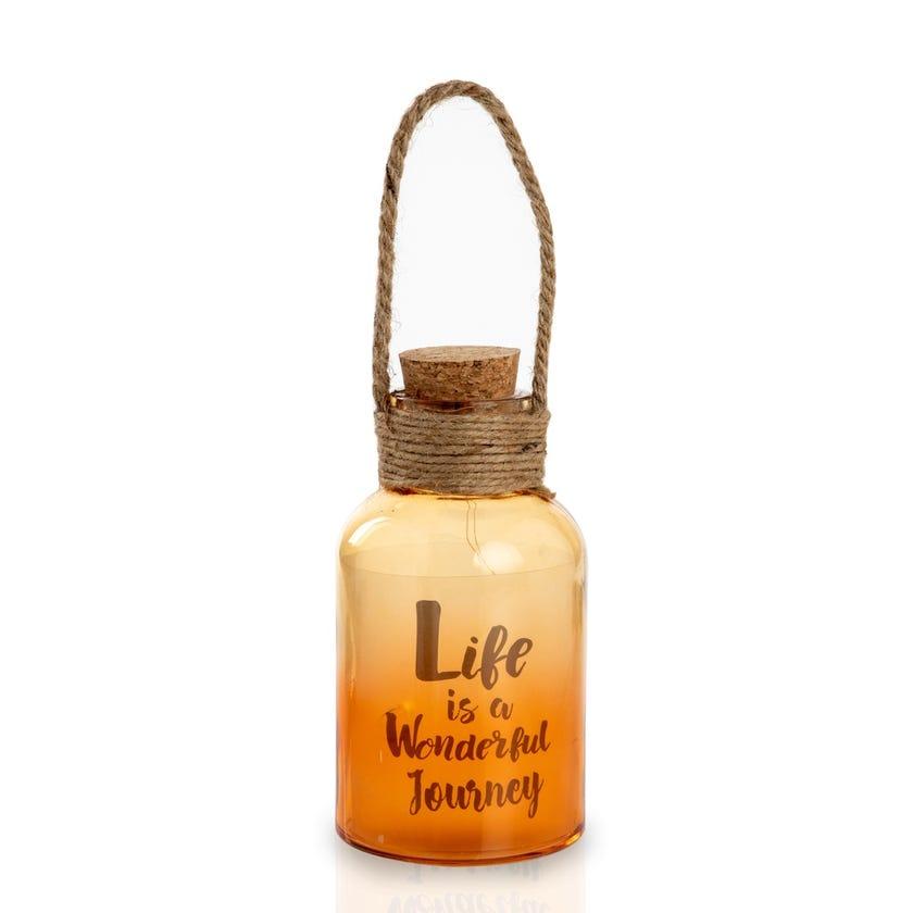 Wonderful Orange LED Bottle Décor Accessory (9 x 16.5 cms)