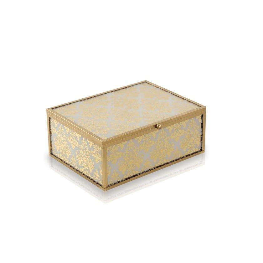 Decorative Gold Glass Box