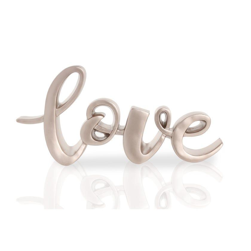 Polyresin Décor Piece - Love (Rose Gold, 26 x 3.5 x 13 cms)