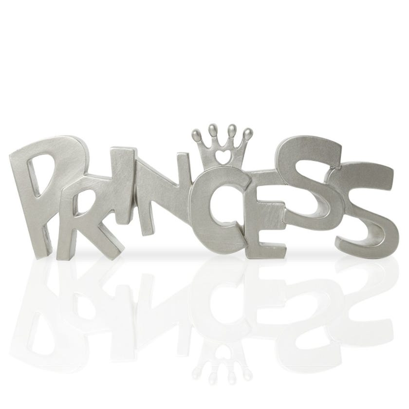 Princess Polyresin Décor Piece, Champagne – 30x2.5x10 cms