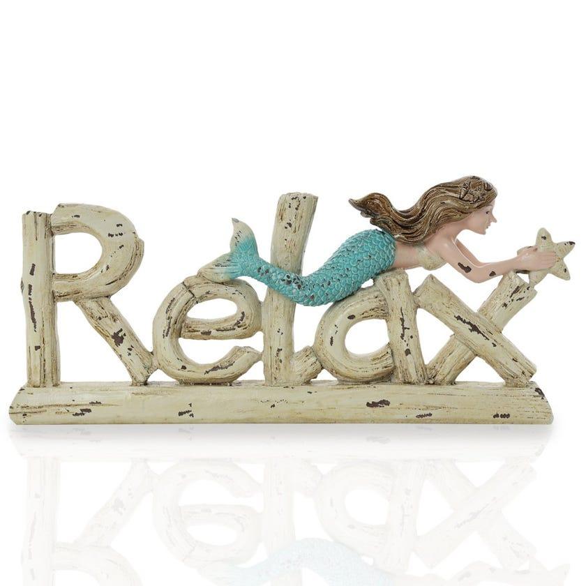 Relax Polyresin Décor Piece, Multicolour – 28x3x15 cms