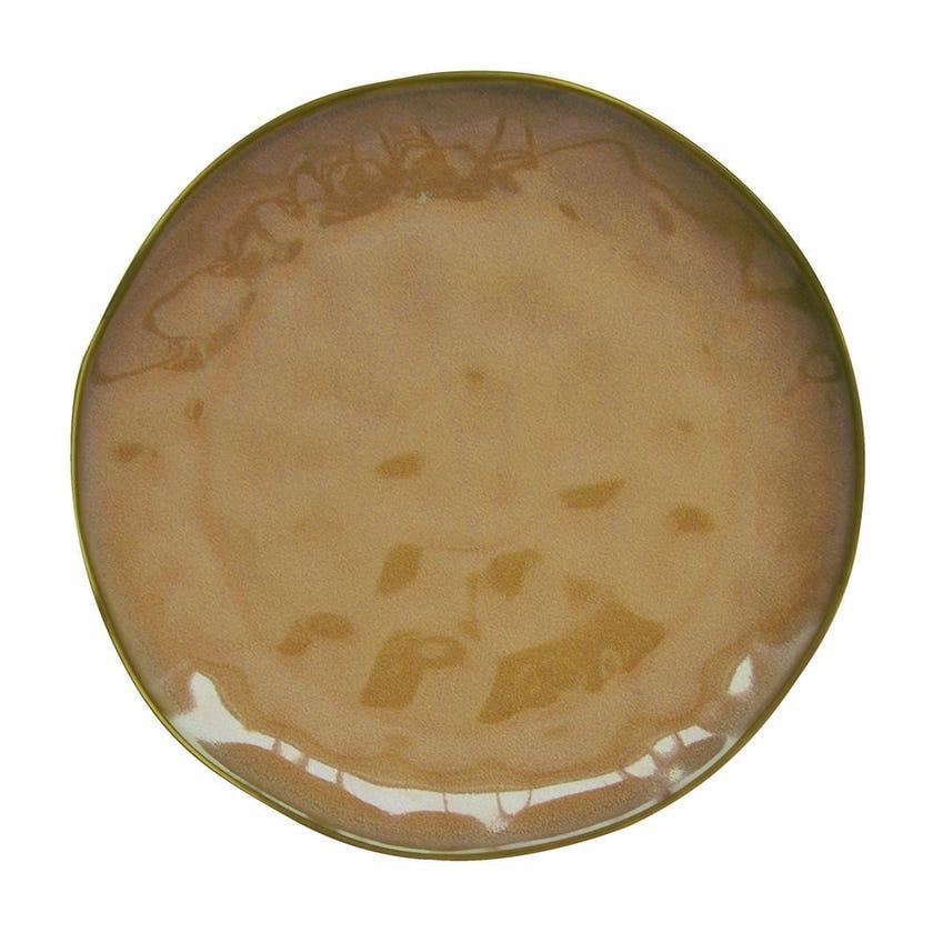 Interiors Porcelain Side Plate - Terracotta