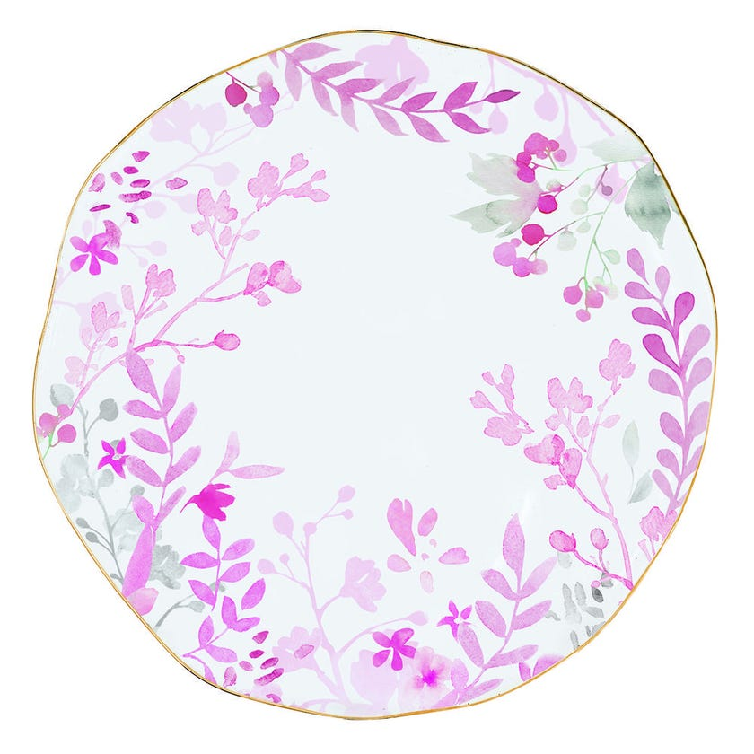 Paradise Pink Porcelain Dinner Plate