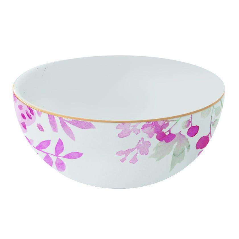 Paradise Pink Porcelain Rice Bowl