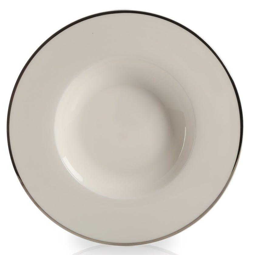 Bone China Soup Plate, White – 24.6 cms