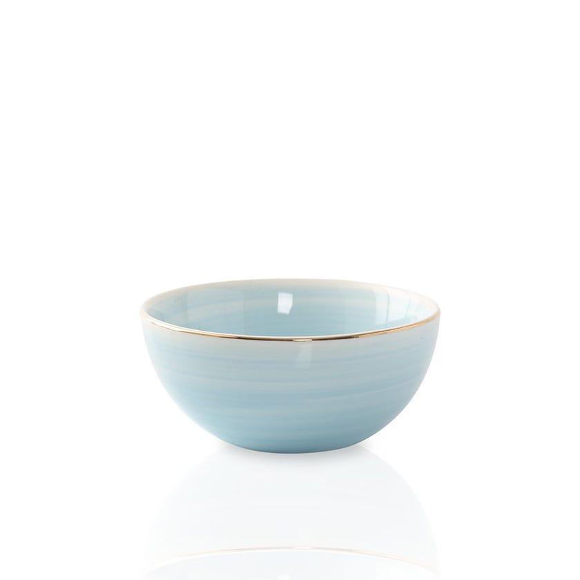 Artisanal Porcelain Bowl, Blue - Small
