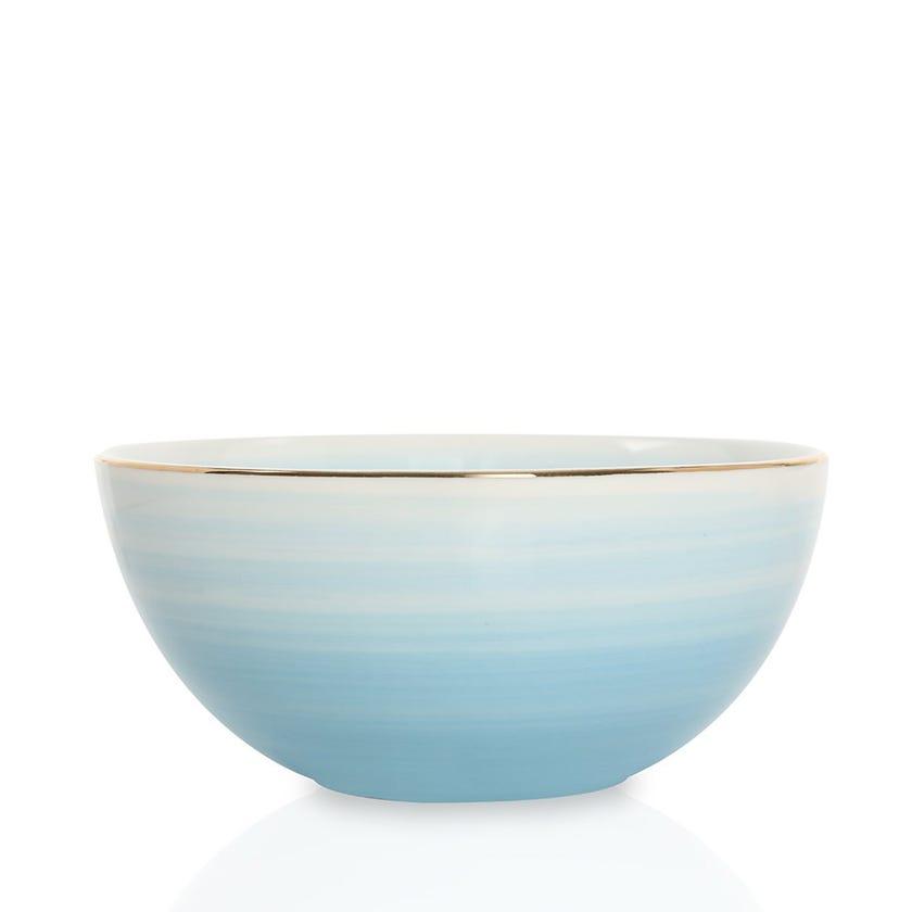 Artisanal Porcelain Bowl, Blue - Medium