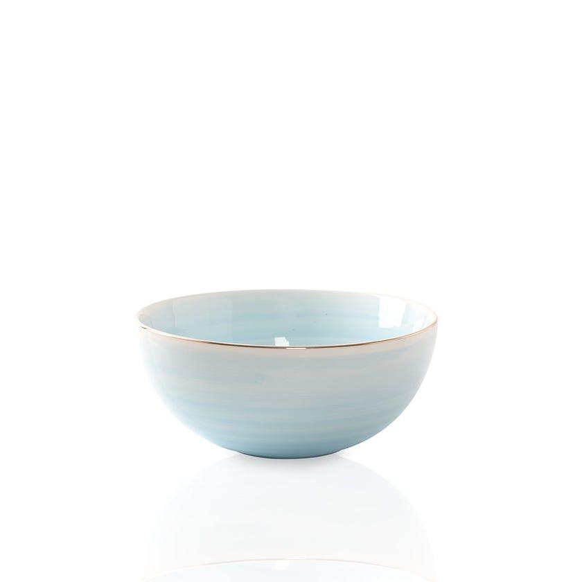 Artisanal Porcelain Bowl, Blue - Large