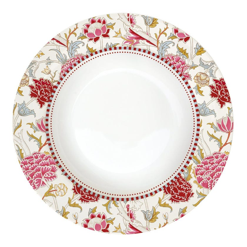 William Morris Soup Plate, Pink
