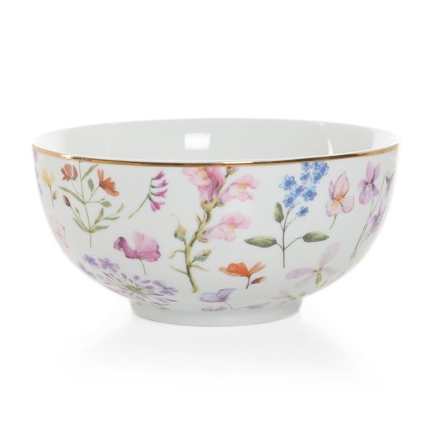 Floral Meadows Bowl, Multicolour – 12 cms