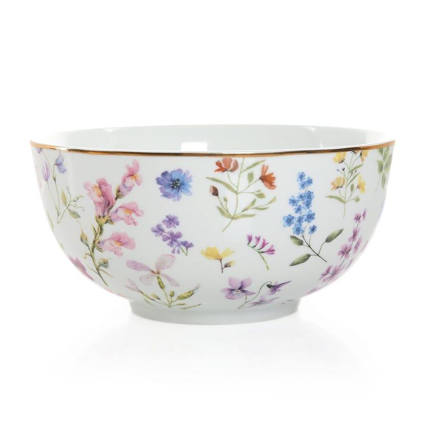 Floral Meadows Bowl, Multicolour – 15 cms