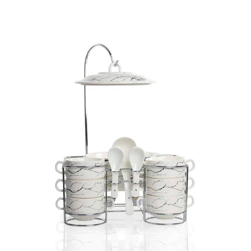 Porcelain Serving Set - 15 Pieces (White)