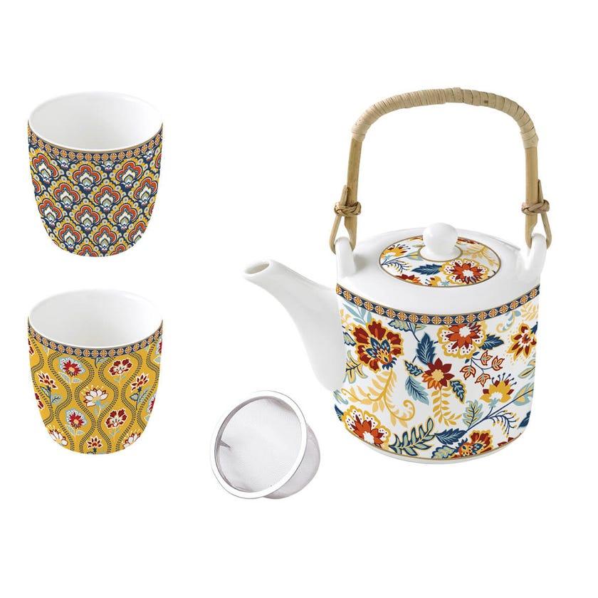 Paisley Abundance Teapot Set, Multicolour – 600ml