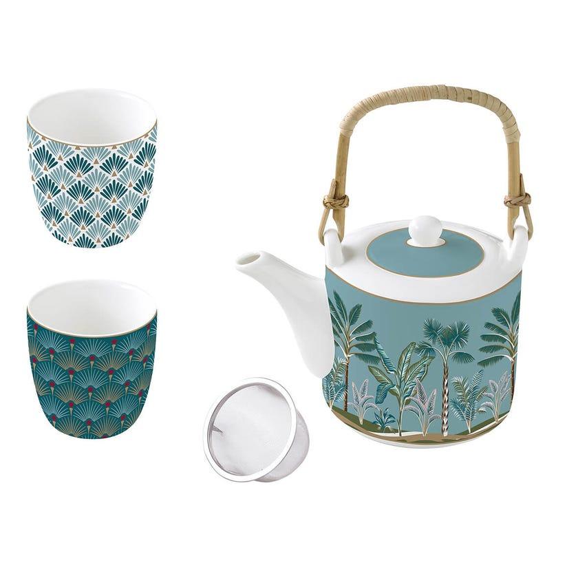 Jungle Teapot Set, Multicolour – 600ml