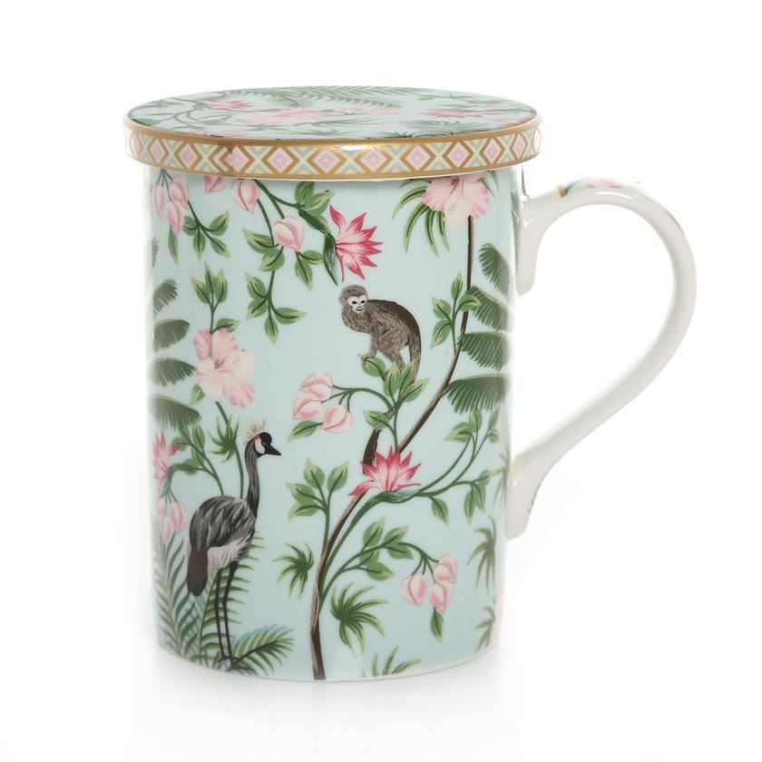 Wild Tropical China Mug, Multicolour – 350ml