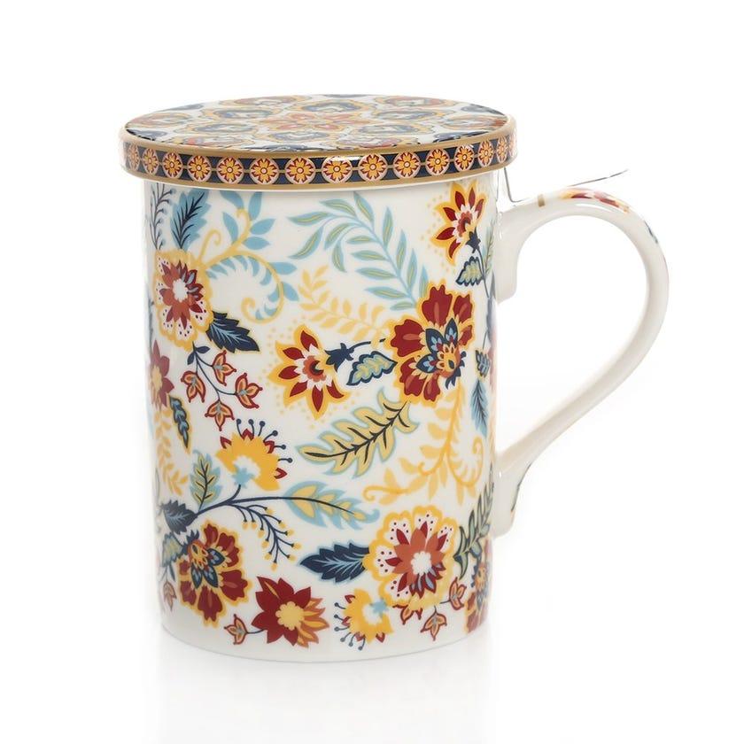 Paisley Infuser Mug, Multicolour – 350ml