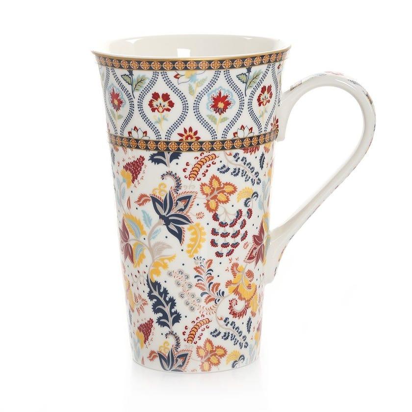 Paisley Porcelain Mug, Multicolour – 600ml