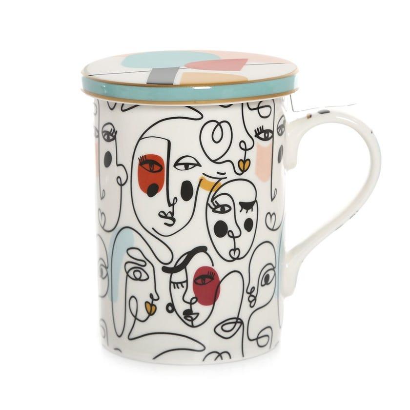 Modernism Infuser Mug, Multicolour – 350ml