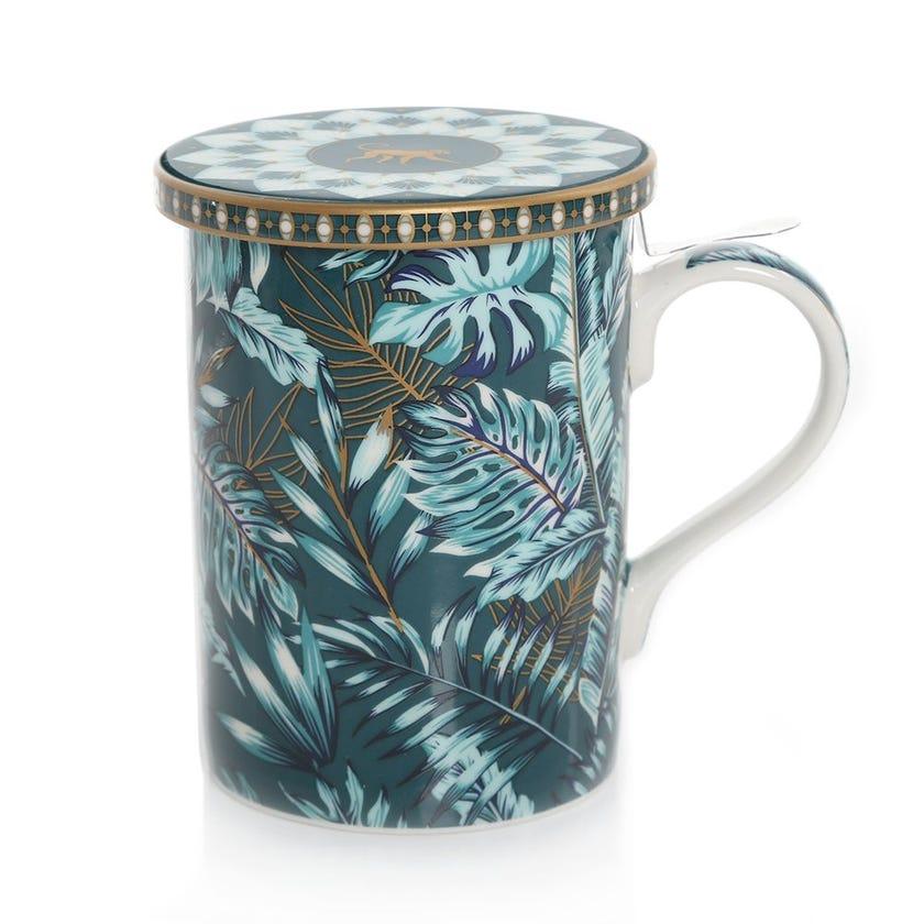 Jungle Atmosphere Infuser Mug, Multicolour – 350ml