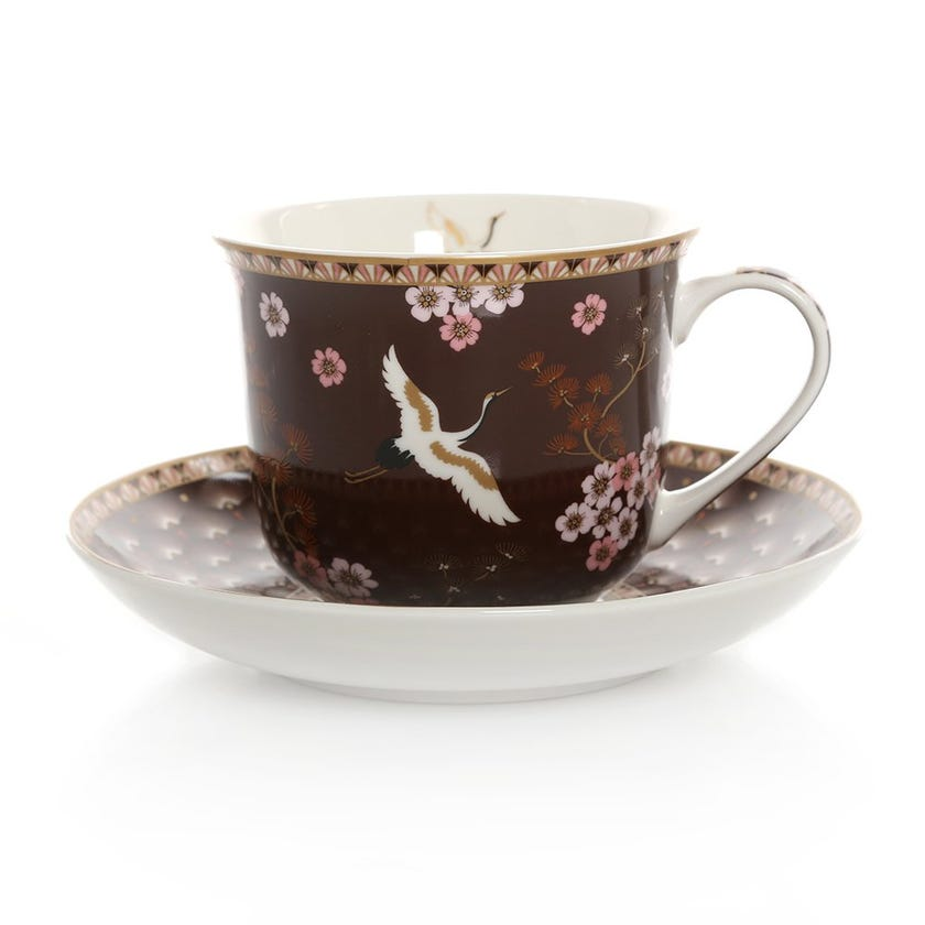 Oriental Atmosphere Cup & Saucer, Multicolour – 400ml