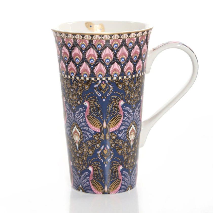Peacock Atmosphere Porcelain Mug, Multicolour – 600ml