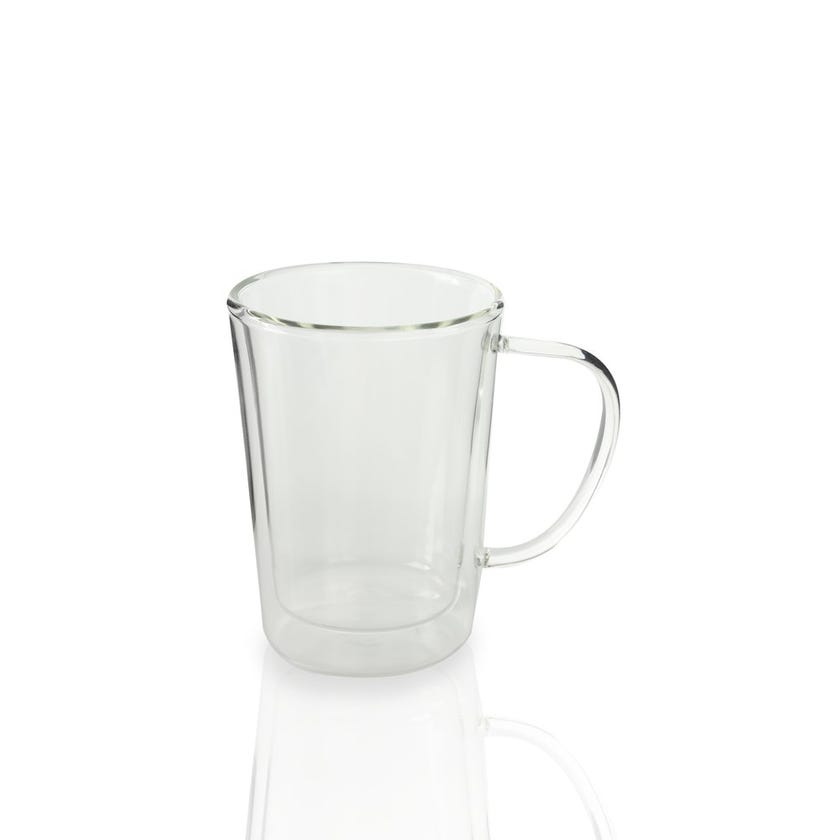 Double Wall Glass with Handle - Clear