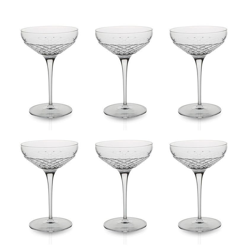 Roma 1960 Cocktail Coupe Glass