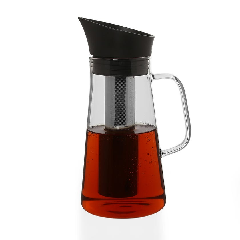 Glass Carafe with Handle, Clear - 1200 ml