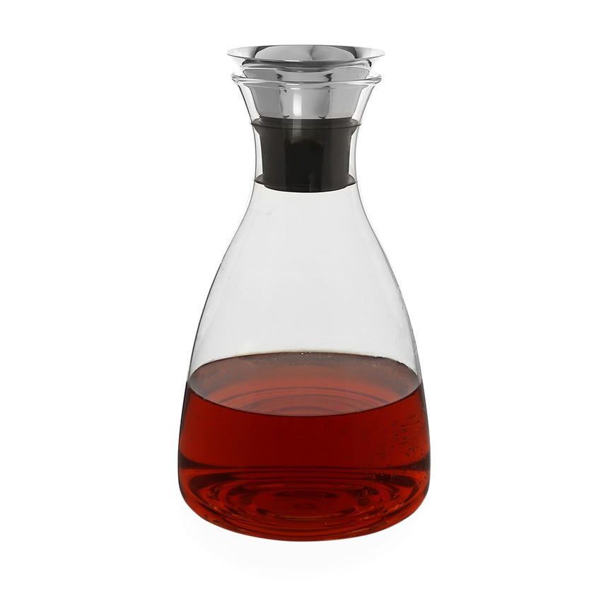 Glass Water Carafe with Lid, Clear - 1600 ml