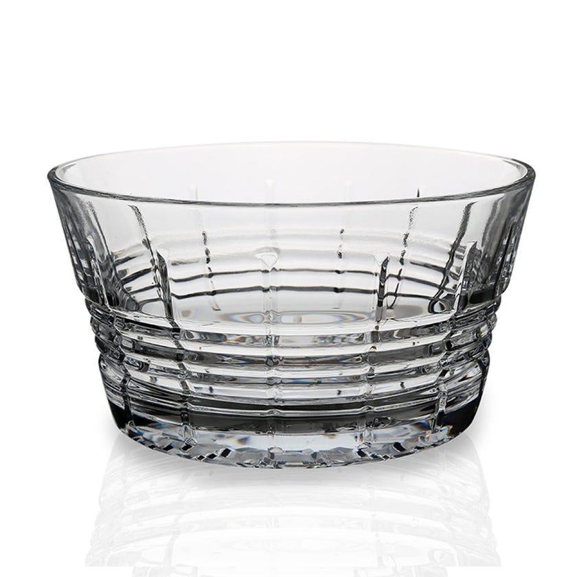 Eclat Rendezvous Glass Salad Bowl - Transparent, 19 x 12 cms
