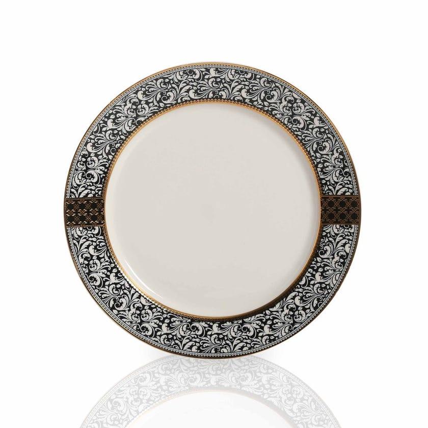 Samia Dinner Plate, White