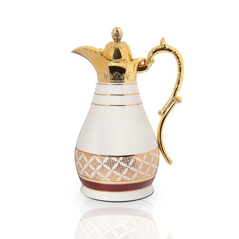 Nayeli Flask, White & Gold - 750 ml