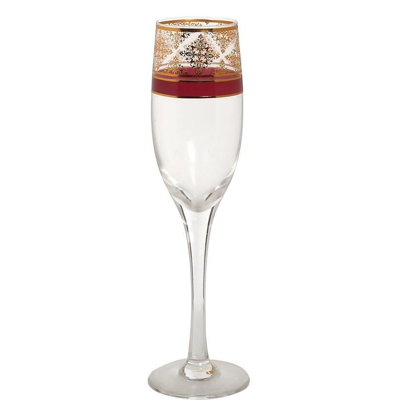 Nayeli Champagne Glass, Clear - Set of 6