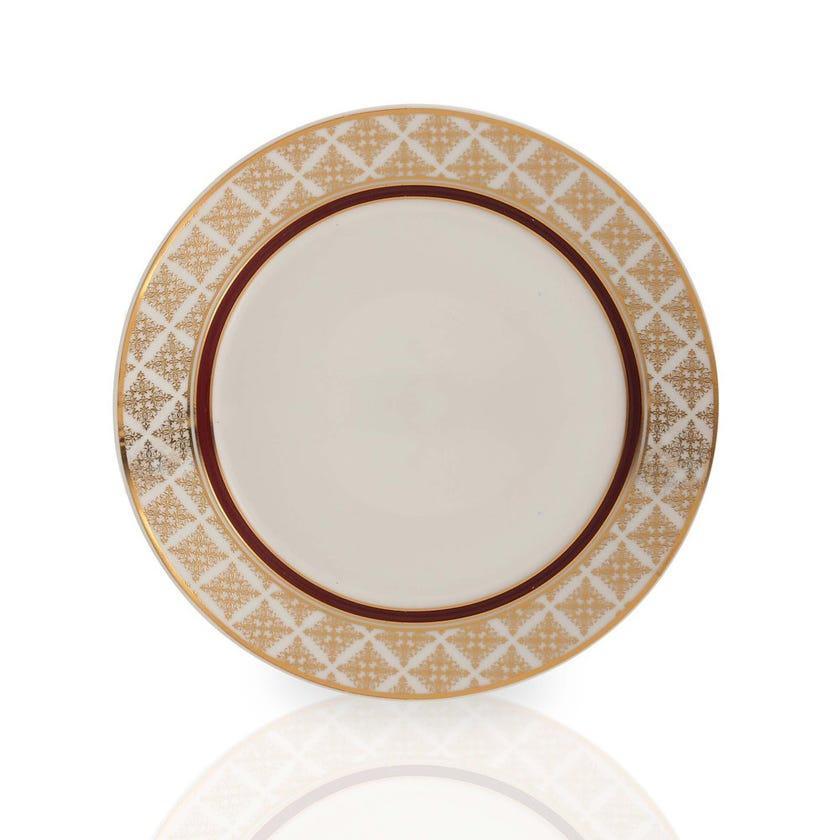Nayeli Dinner Plate, White