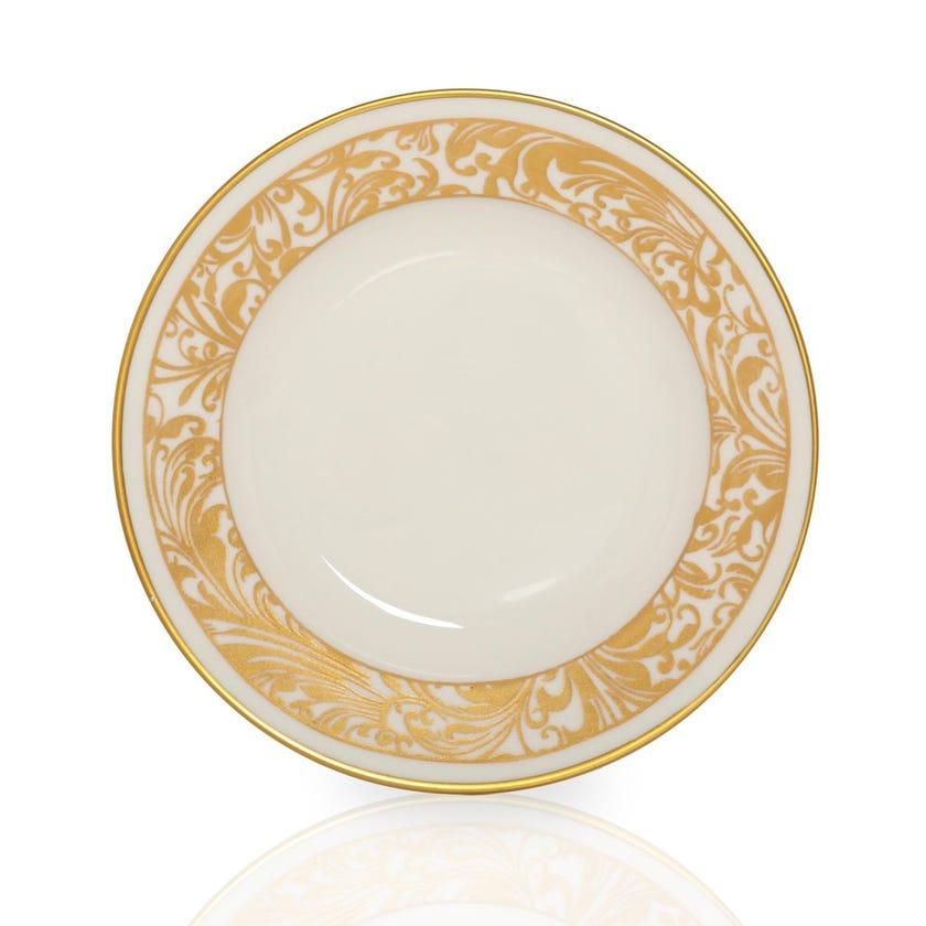 Jarrah Soup Bowl, White & Gold - Large