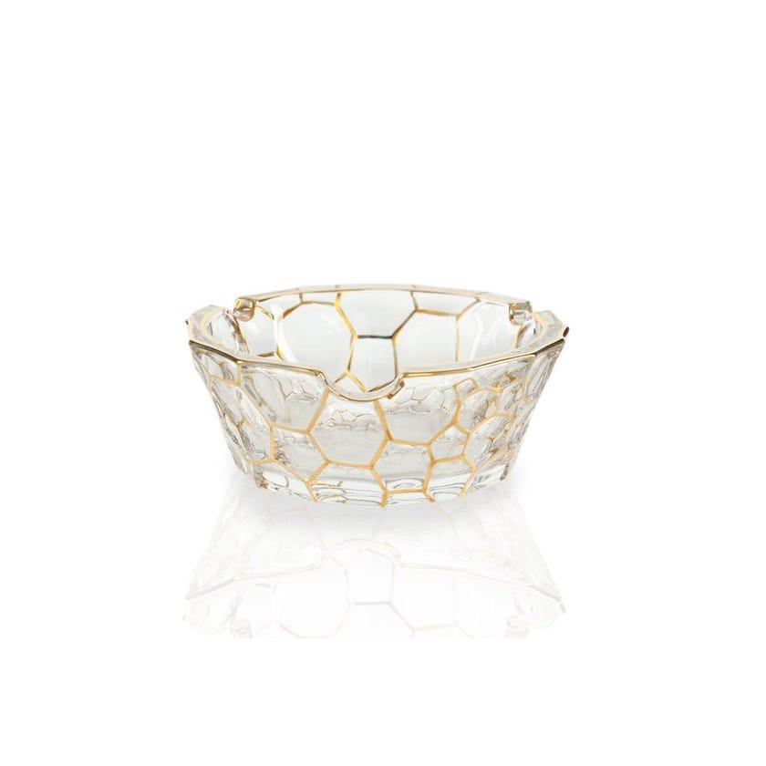 Glass Ashtray - Gold Line, 13 cms