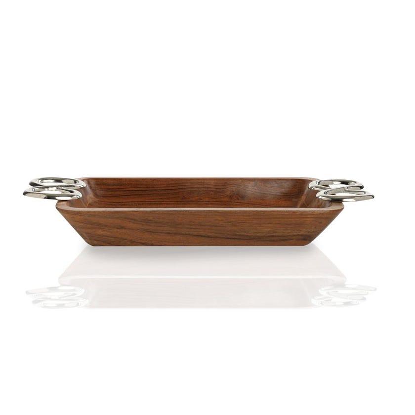 Wooden Rectangular Dish, Large