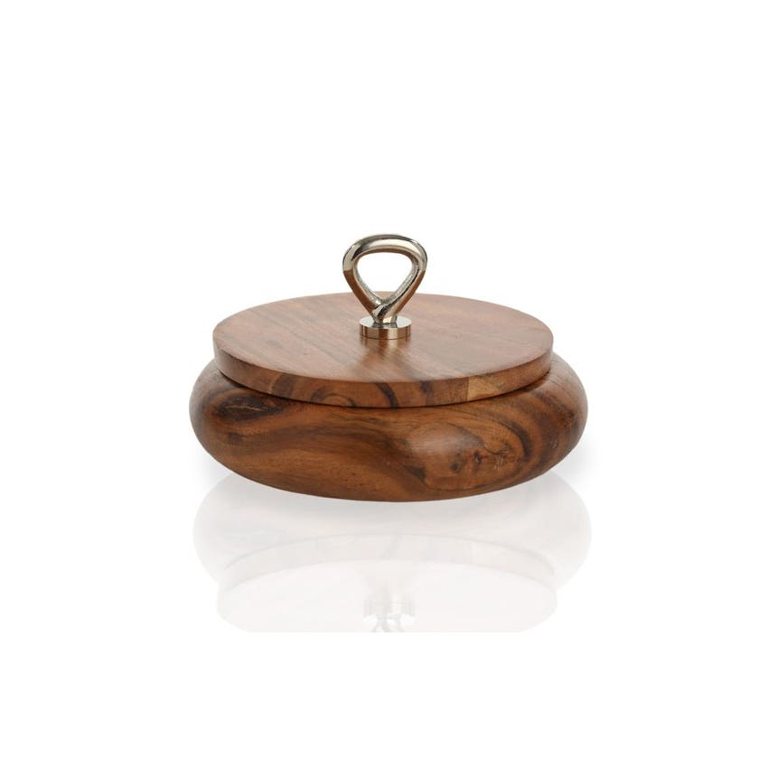Wooden Round Box, Small