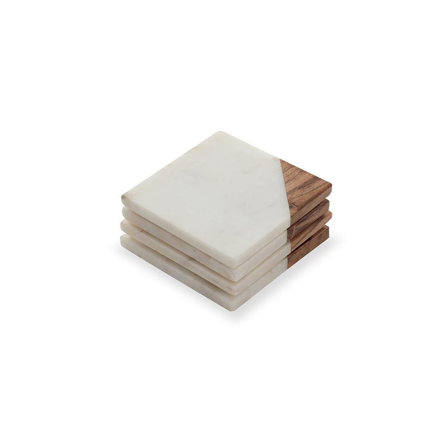 Marble and Fusion Wood Coaster