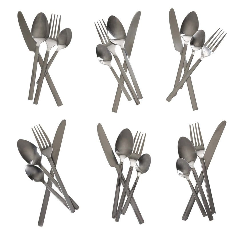 Bologna 24-Piece Stainless Steel Cutlery Set