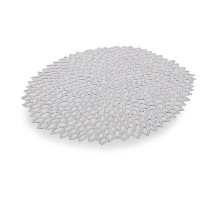 Easton Laser Cut Placemat (Silver, PVC)
