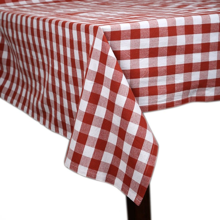 Toyo Tablecloth - 170 x 250 cms, Red